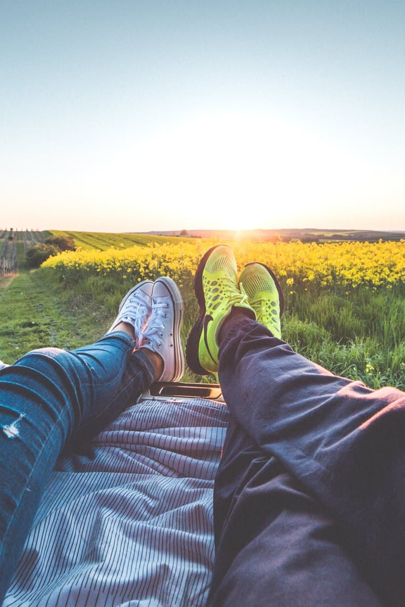2 People Sitting With View of Yellow Flowers during Daytime  https://www.pexels.com/photo/2-people-sitting-with-view-of-yellow-flowers-during-daytime-196666/