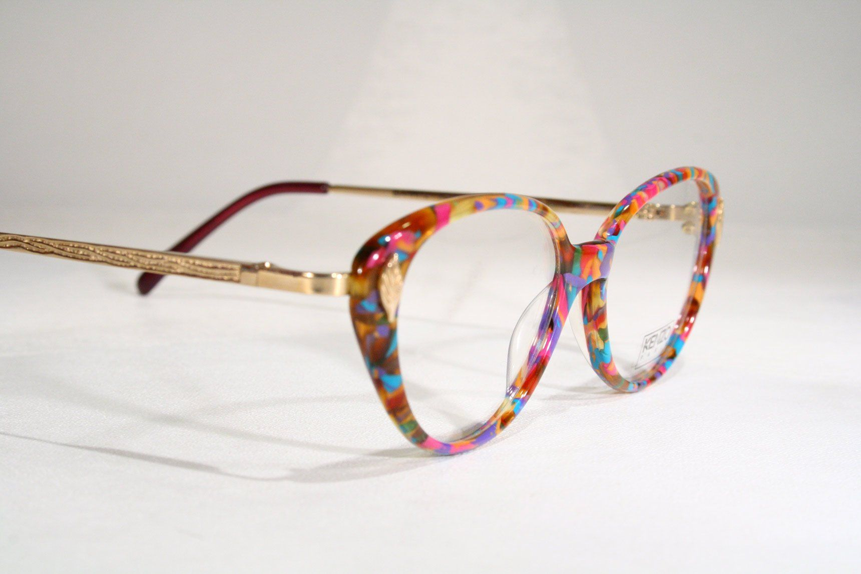Colorful Kenzo Eyeglasses Frames With Gold Electroplatec Temples And Very Colorful Rims Etsy Ripvanw Frames For Sale Eyeglasses Frames Stuff To Buy