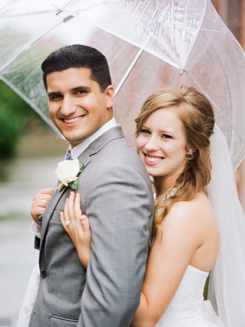 rainy day wedding photos and bridal makeup Wedding