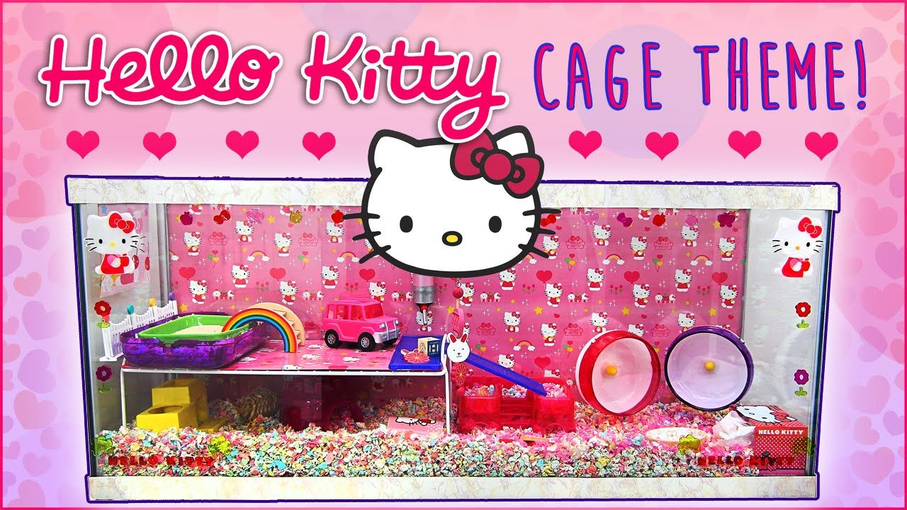 Hello Kitty Hamster Cage Theme Secret Hamster Cage Syrian Hamster Hamster Cages