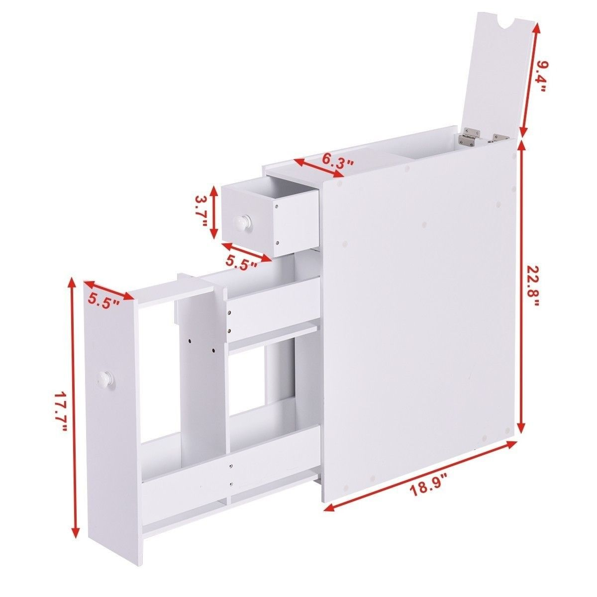 Bathroom Cabinet Space Saver Storage Organizer Wood Floor Bathroom Bathroom Storage Cabinet Diy Bathroom Storage