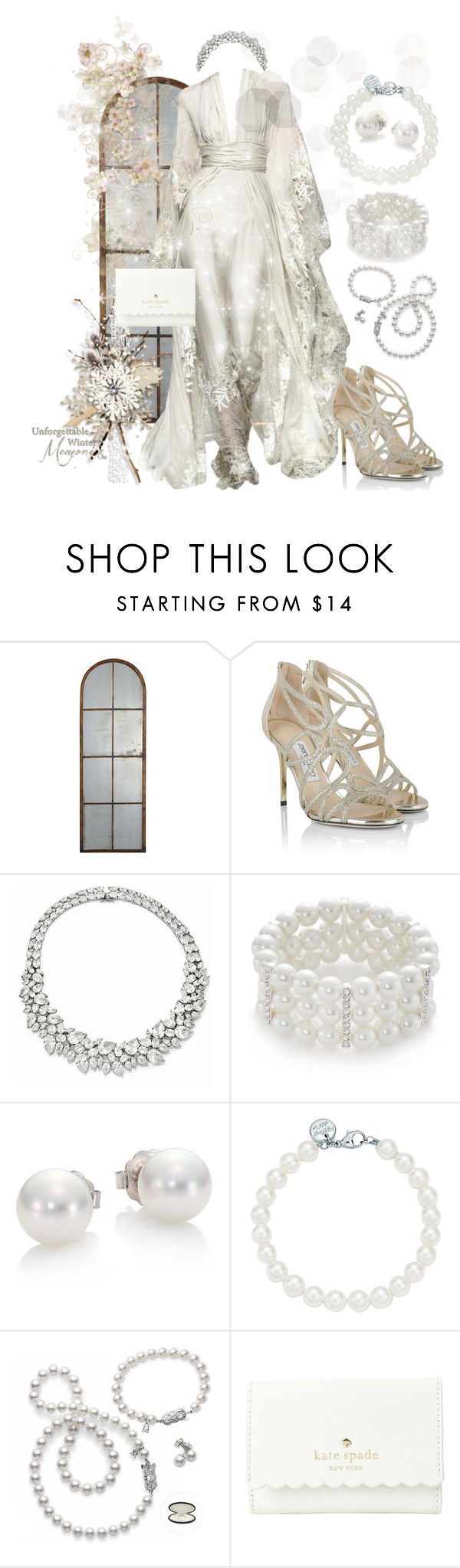 """""""Untitled #502"""" by annsofisweden ❤ liked on Polyvore featuring Uttermost, Zuhair Murad, Jimmy Choo, Kim Rogers, Mikimoto, Tiffany & Co. and Kate Spade"""