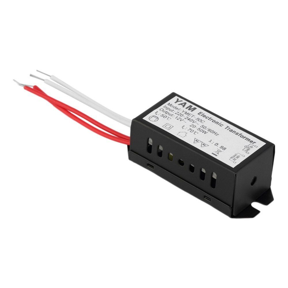New Ac 220v To 12v 20 50w Led Lighting Transformator Halogen Lamp Electronic Transformer Led Driver Power Supply 2 Halogen Lamp Led Drivers Light Accessories