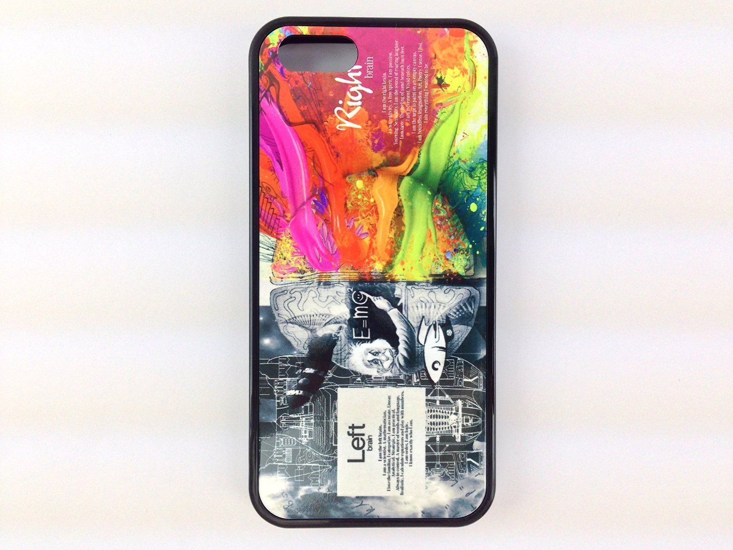 Iphone 5, Iphone 5s Left Right Brain Albert Einstein Inspired Case with Free Screen Protector! For the Geek and Nerd As Well As the Creative and Eccentric.:Amazon:Cell Phones & Accessories