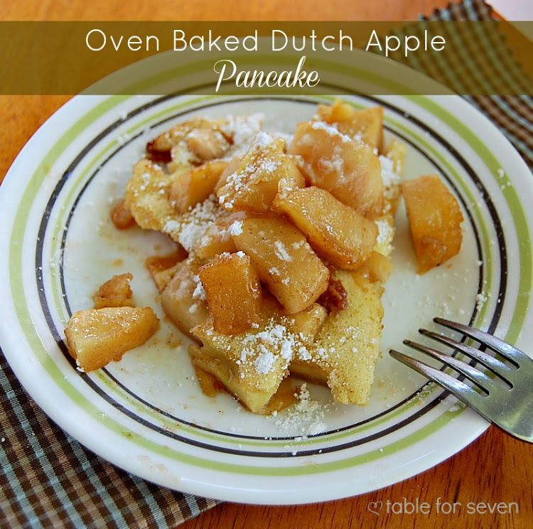 Table for 7 :Oven Baked Dutch Apple Pancake #secretrecipeclub