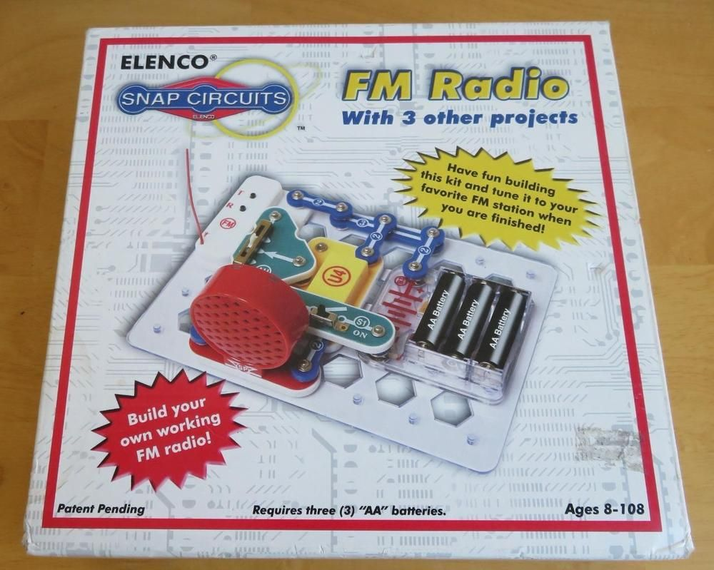 New Elenco Snap Circuits Fm Radio Kit Scp 02 Some Packaging Wear