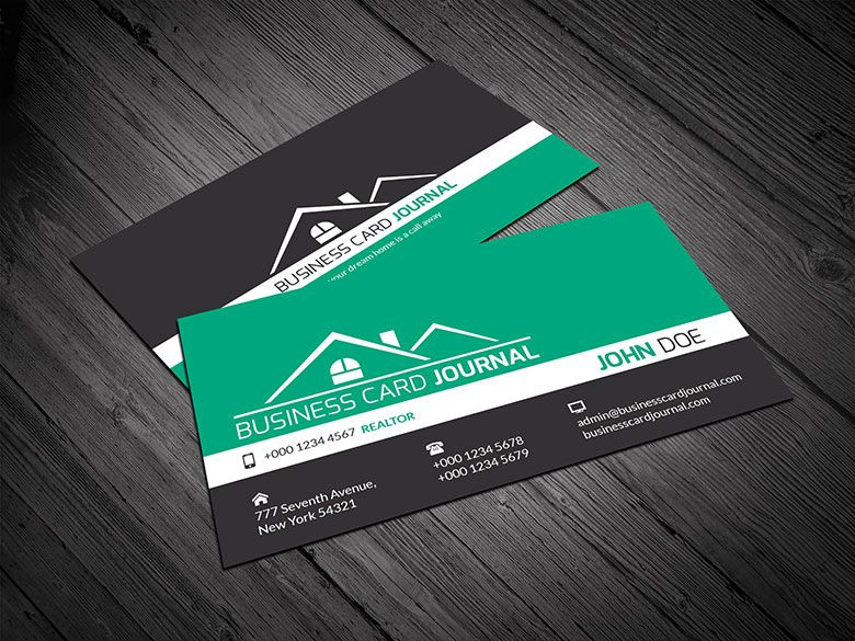 Real-Estate-Business-Card-Design-Template-0001 | Business card ...