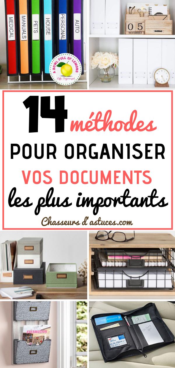 14 Methodes Pour Organiser Vos Documents Les Plus Importants Rangement Papier Administratif Rangement Classeurs Organisation