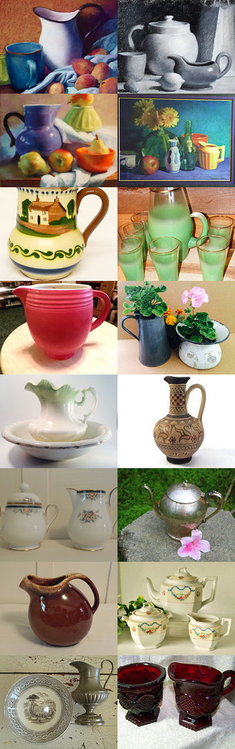 Pitchers from the TEMPT team by Carol on Etsy--Pinned with TreasuryPin.com