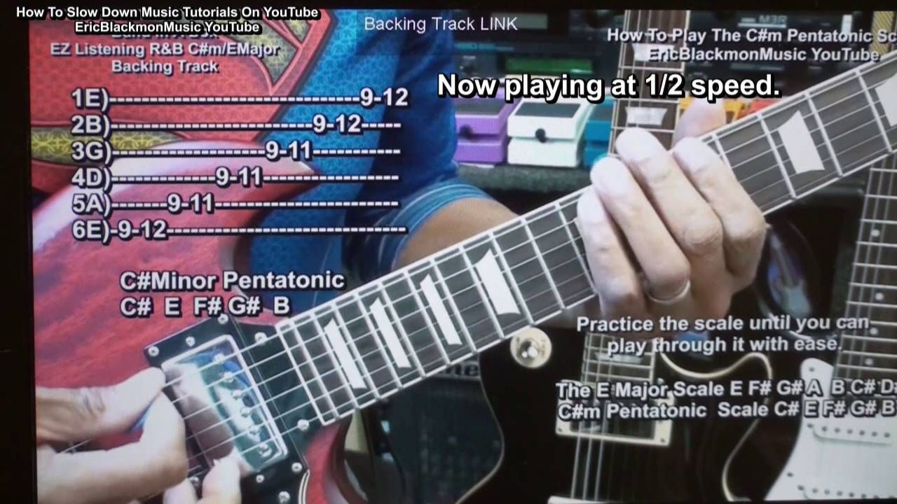 How To Slow Down YouTube Tutorials For Learning Guitar