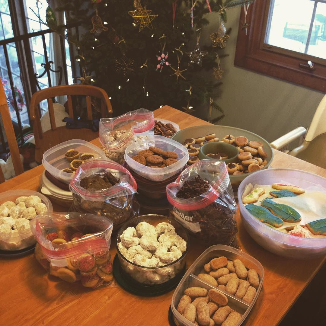 Thirteen types of cookies is enough for this year!