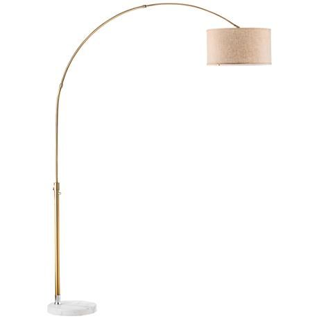 Sophisticated Beauty For The Modern Home This Marble Arc Floor Lamp Features A Heavy Base And Rose Gold Finish Arc Floor Lamps Floor Lamp Lamp
