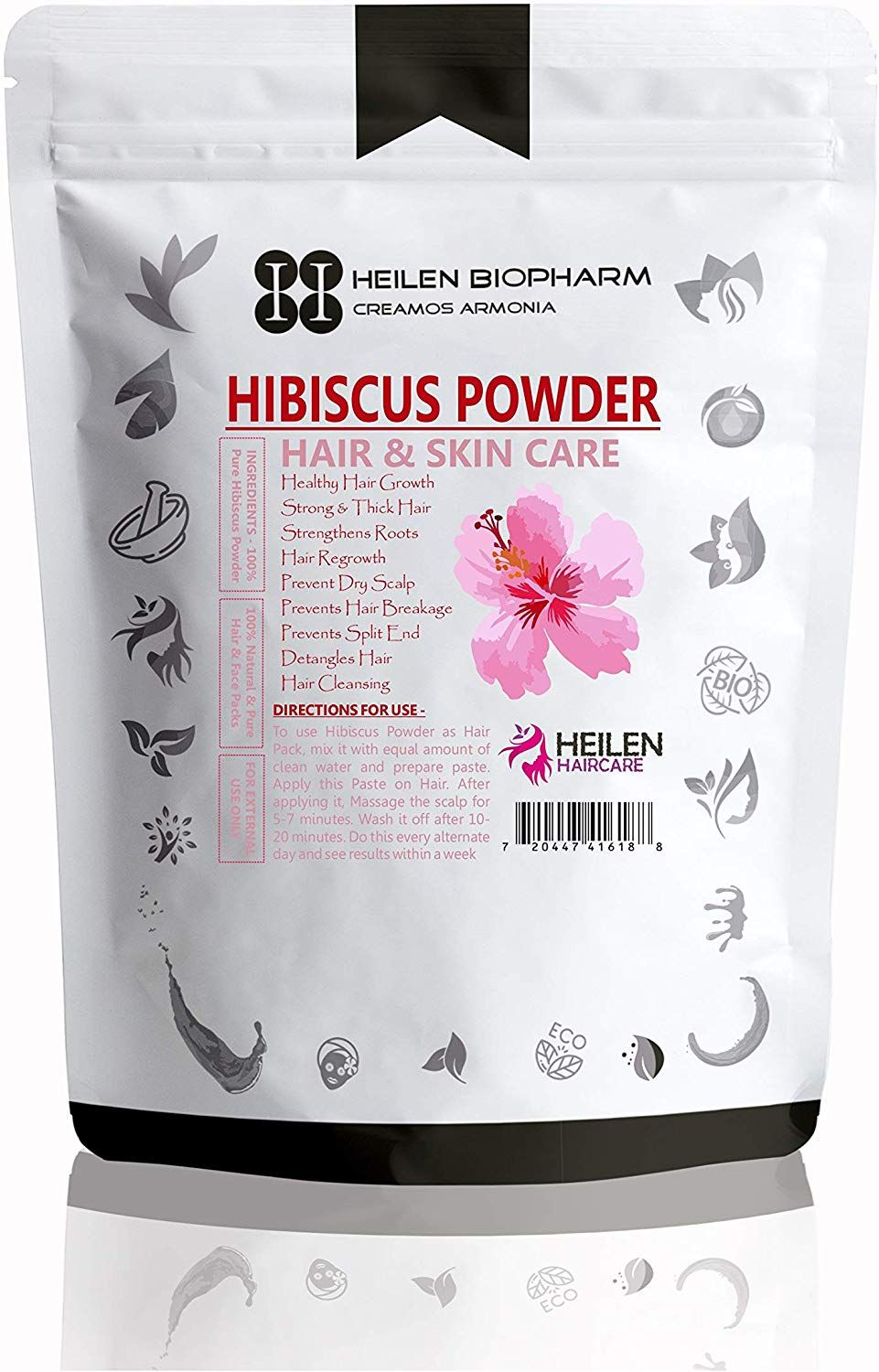 Hibiscus Powder Is Very Important For Diy Packs Of Hair Growth Hibiscus Has A Magical Reputation For Increasing Skin Ela Skin Elasticity Hair Growth Roots Hair