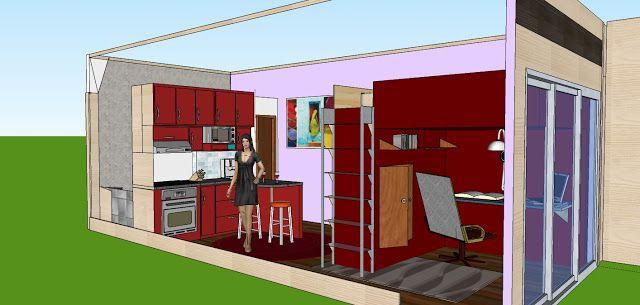 Module etudiant container maison container pinterest for Maison modulaire container