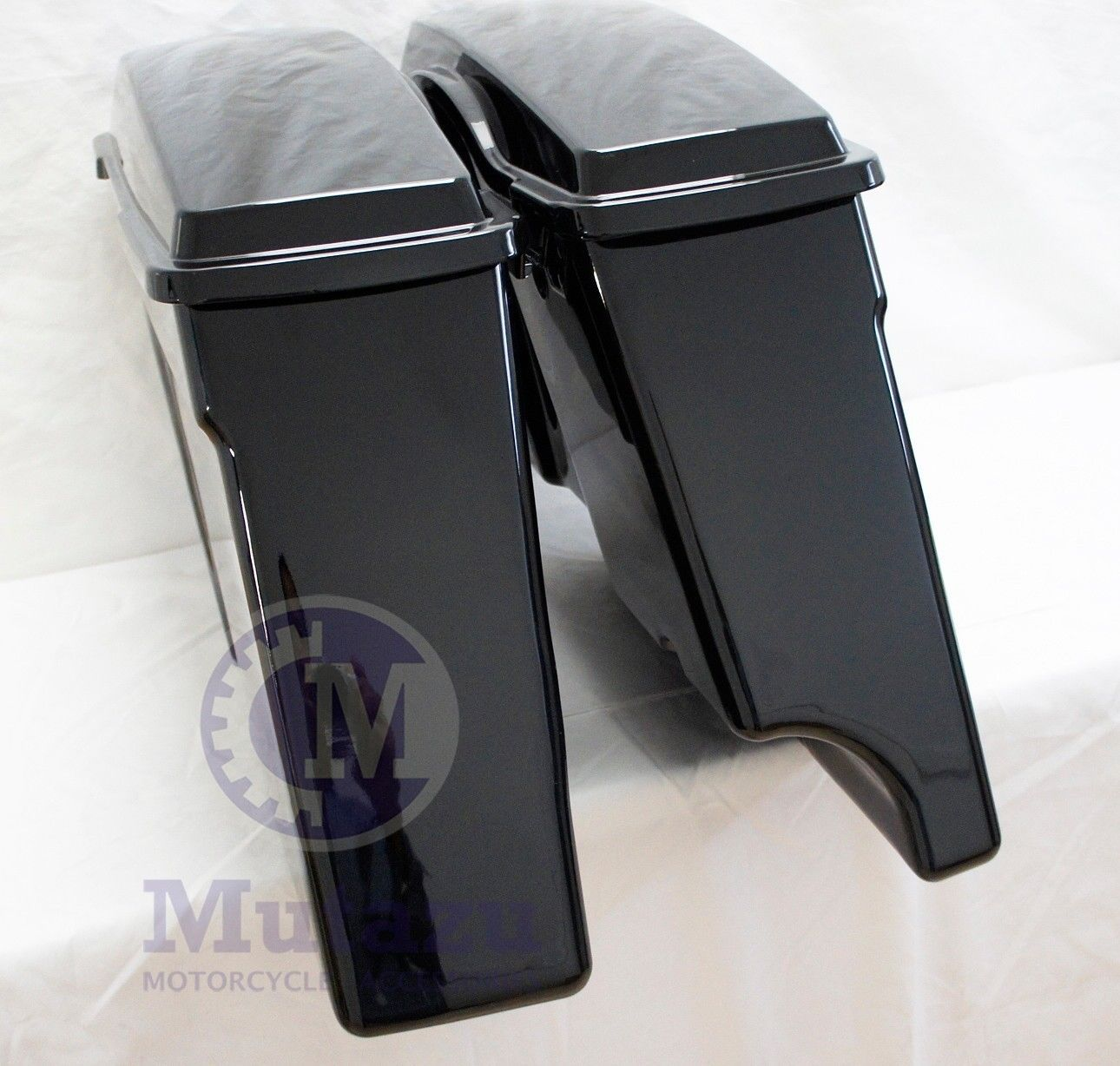 Harley Mutazu 2 Into 1 Extended Stretched ABS Saddlebags For Davidson 1994