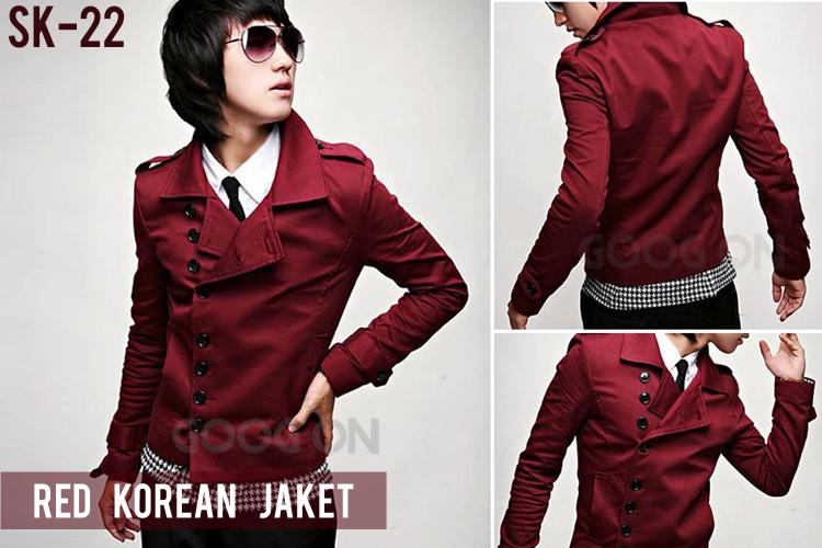 Red Korean Style Jacket di 2020 Mode korea, Jaket, Jaket
