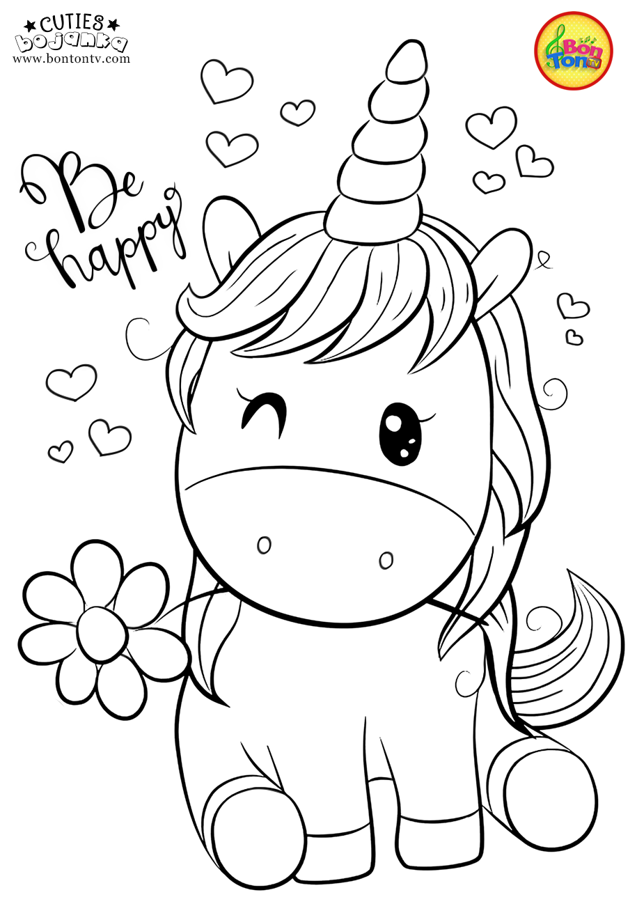Cuties Coloring Pages For Kids Free Preschool Printables Slatkice Bojanke Cute Animal Co Unicorn Coloring Pages Cute Coloring Pages Animal Coloring Books