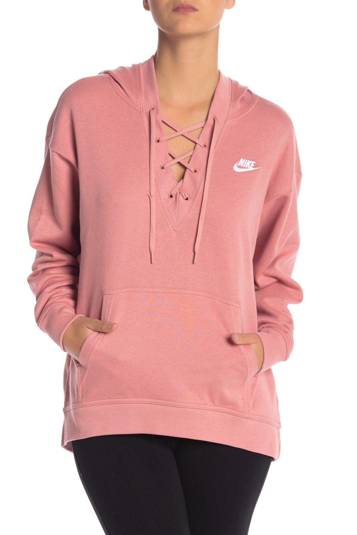 Nike | Club Lace Up Hoodie | Womens workout outfits, Fashion
