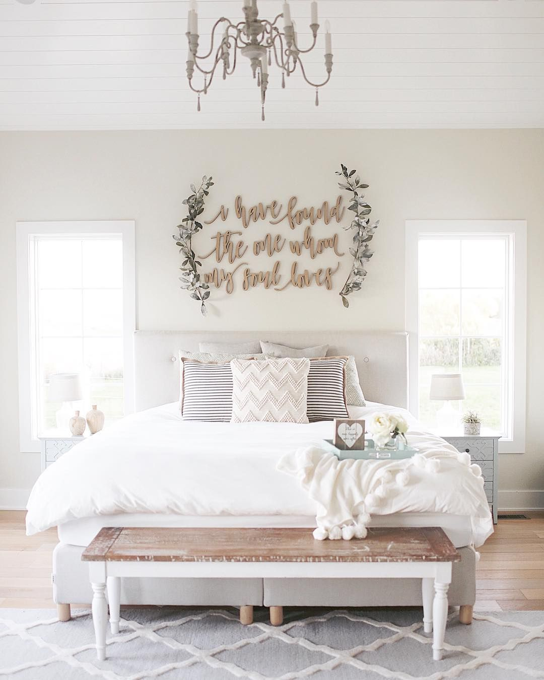 farmhouse coastal master bedroom wall decor