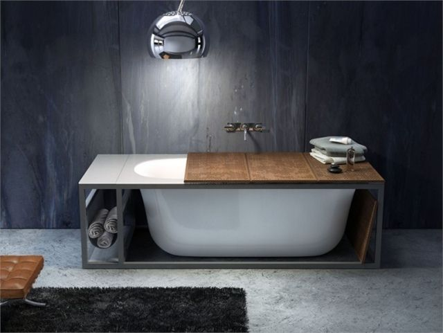 Holzregal Badezimmer ~ Ovale wanne integriertes regal acryl naked glass idromassaggio