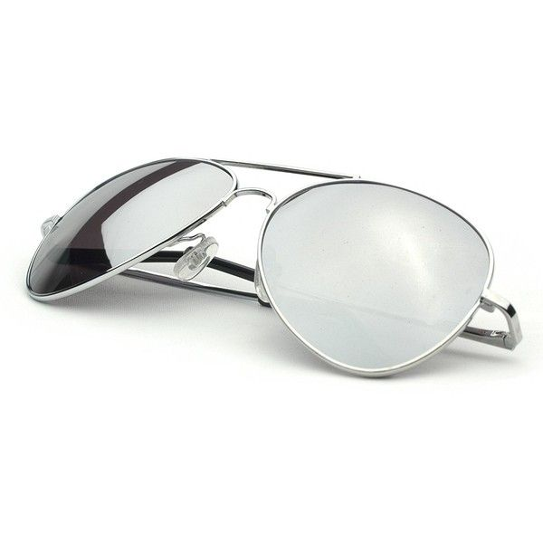 3d879e8ce Urban Boundaries Eyewear Aviator Sunglasses Silver Frame Mirror Lens  ($3.80) ❤ liked on Polyvore featuring accessories, eyewear, sunglasses,  glasses, ...