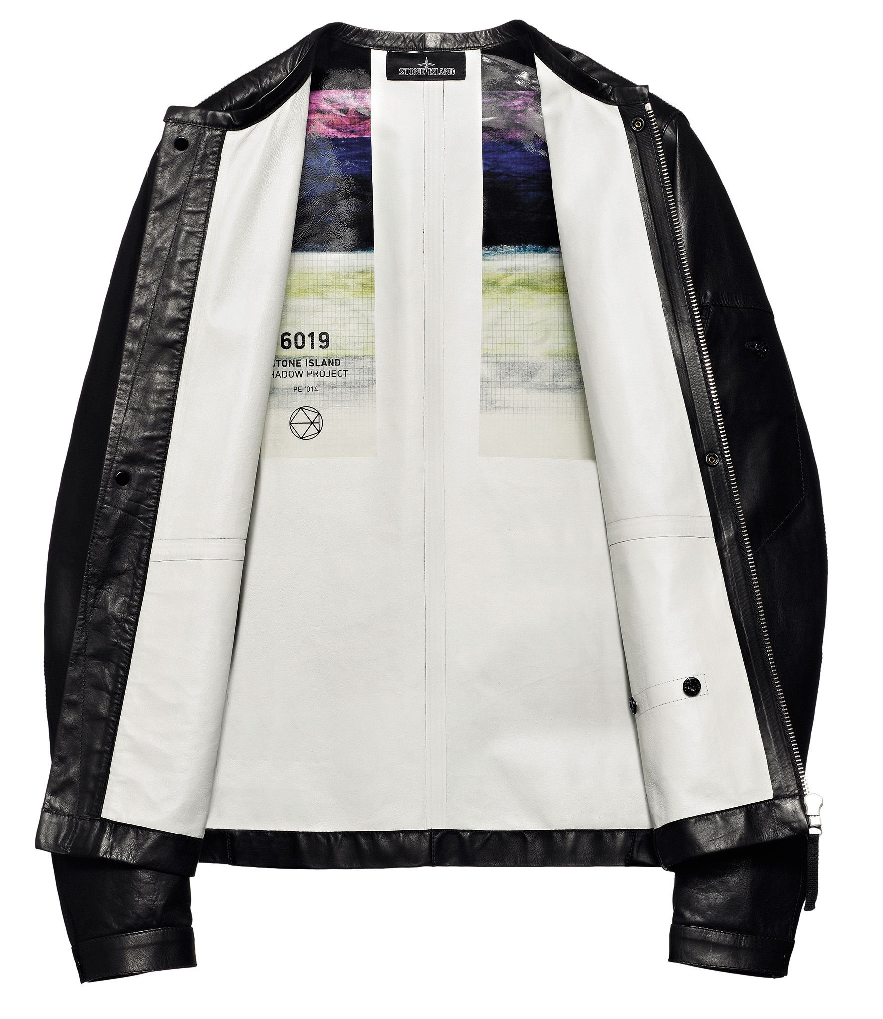 Stone Island Shadow Project_Spring Summer '014 www.stoneisland.com  00221 BIKER JACKET_ ONE LAYER LEATHER