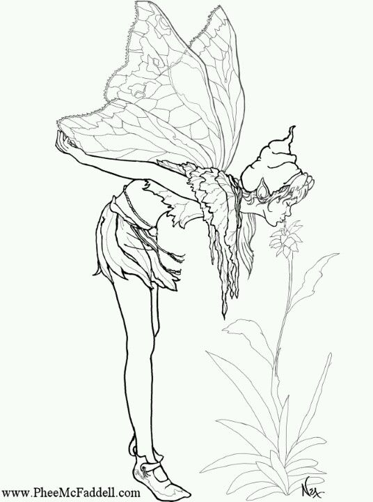 Amy Brown Fairies Coloring Pages