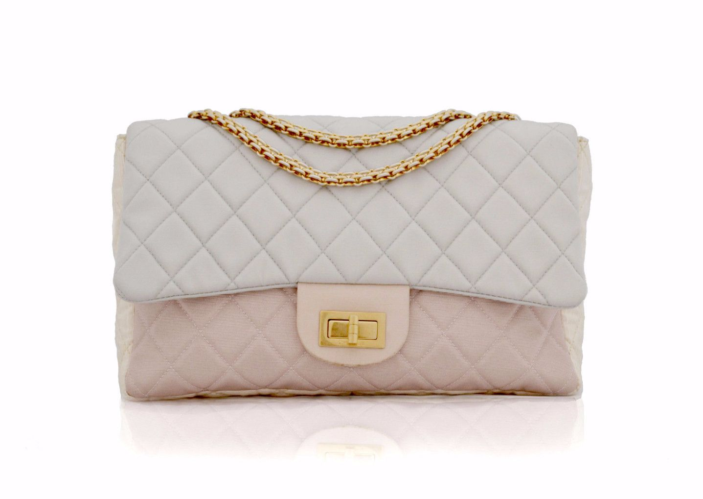CHANEL VINTAGE BAG - Jumbo Reissue 2.55 in Pastel Nylon from Vintage  District - Authentic vintage designer bags UK e782a9c1f6106