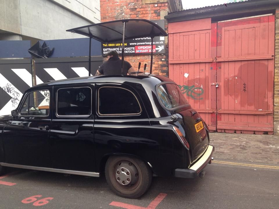 London Black Cab converted into mobile coffee cart! | Me at
