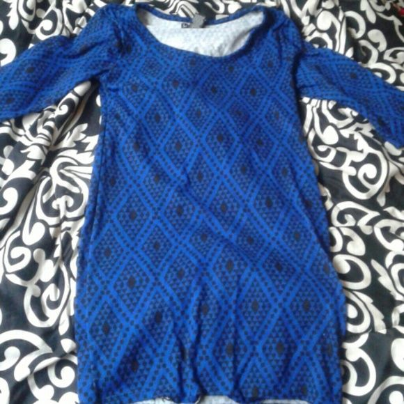 Blue Dress Blue Dress Half Sleeves LOVE by chesley  Dresses Long Sleeve