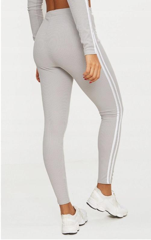 27a017 Prettylittlething Pxb Legginsy Paski Xs 8138787650 Oficjalne Archiwum Allegro White Jeans Grey Jean Fashion