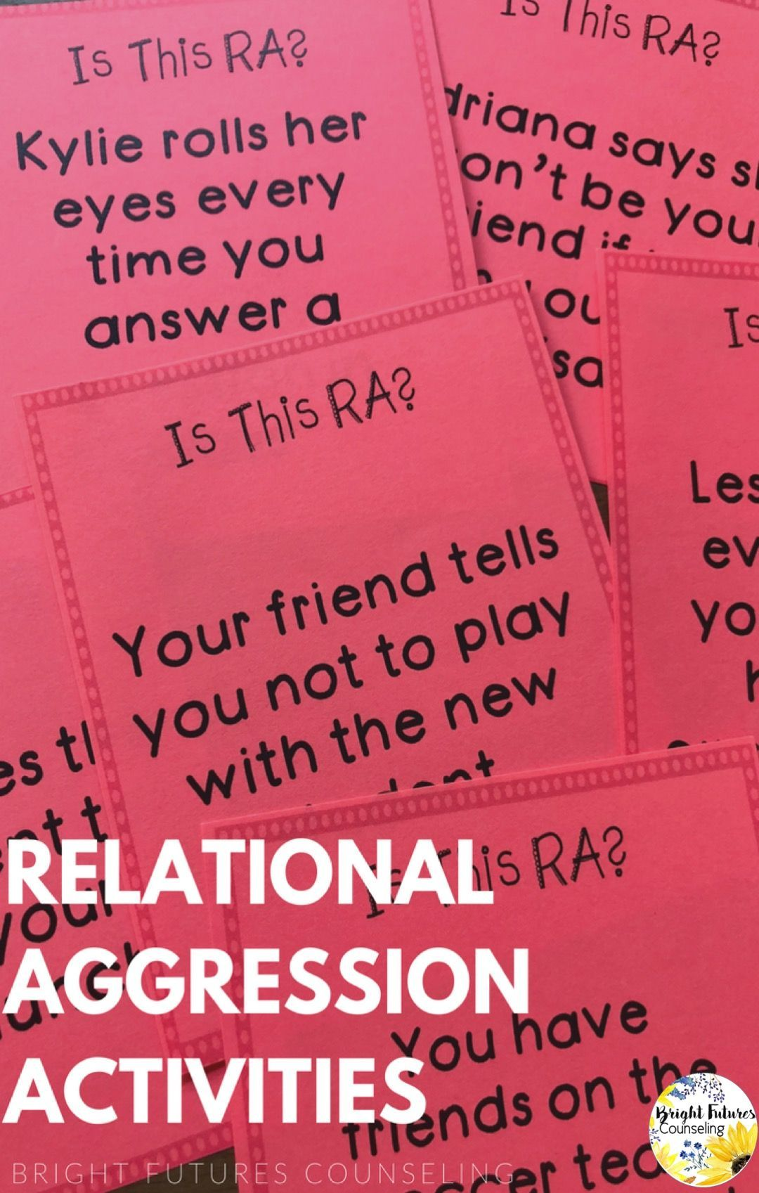 Relational Aggression Bullying Counseling Activities The