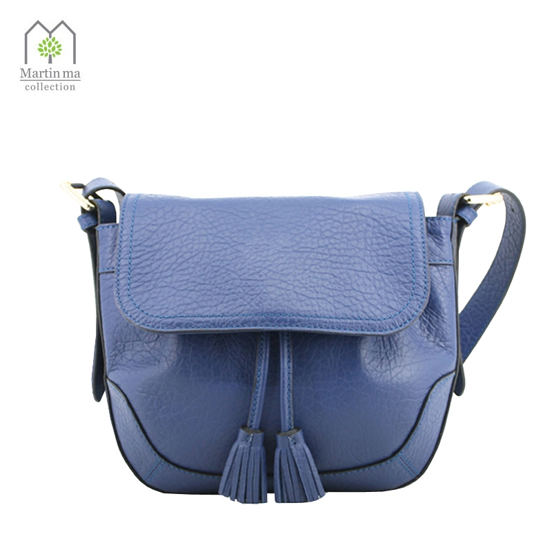 98.99$  Watch now - http://ali0uu.worldwells.pw/go.php?t=32729637767 - New Style Genuine Leather Women Shoulder&Crossbody Bag Tassel Messenger Flip Bucket Bags Fashion Woman MARTIN MA Collection 98.99$