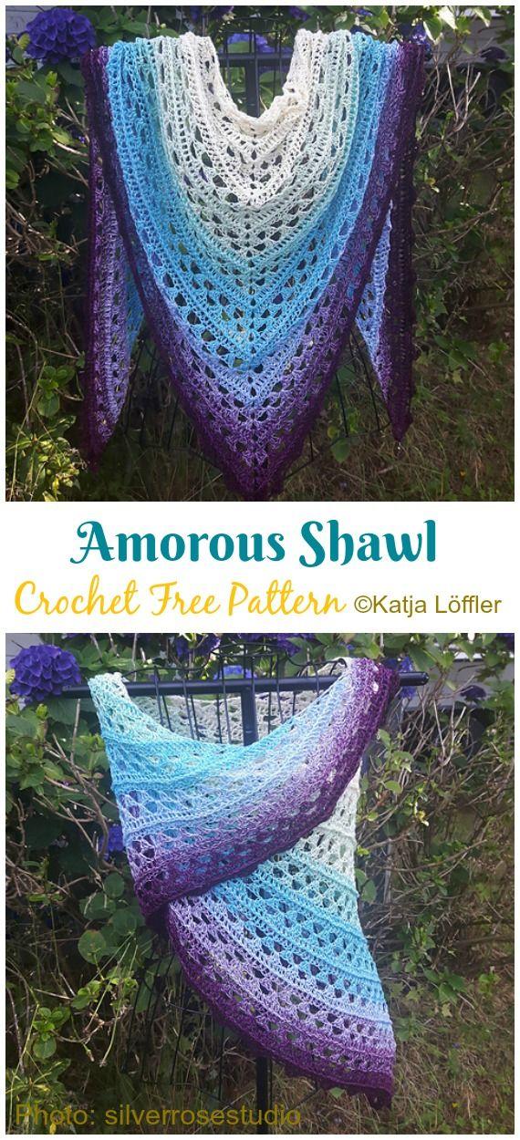 Amorous Shawl Crochet Free Pattern - Crochet & Knitting