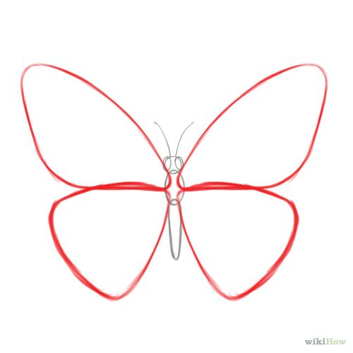 How To Draw A Butterfly Butterfly Drawing Easy Drawings Easy Butterfly Drawing