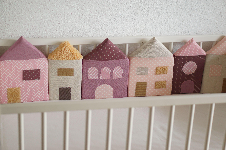 Häuser nestchen made with love nestchen nähen baby kinderzimmer