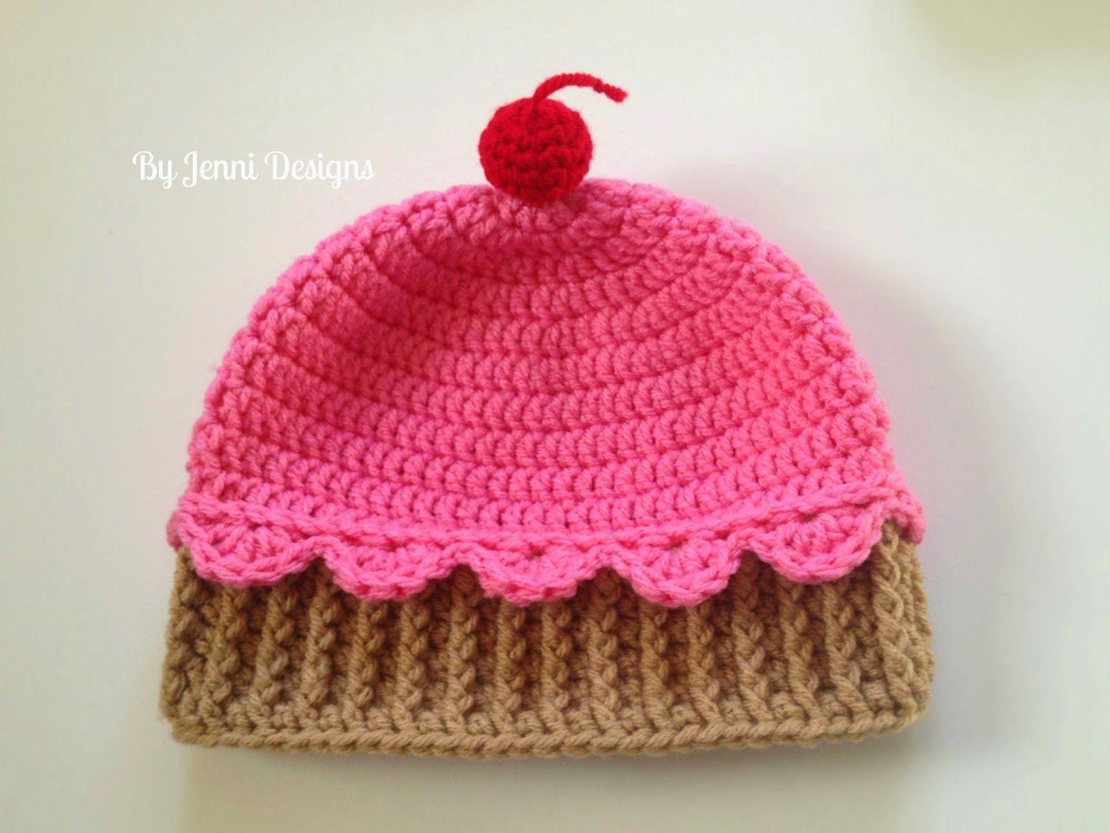 By jenni designs youth size crochet cupcake hat free pattern by jenni designs youth size crochet cupcake hat free pattern more bankloansurffo Images