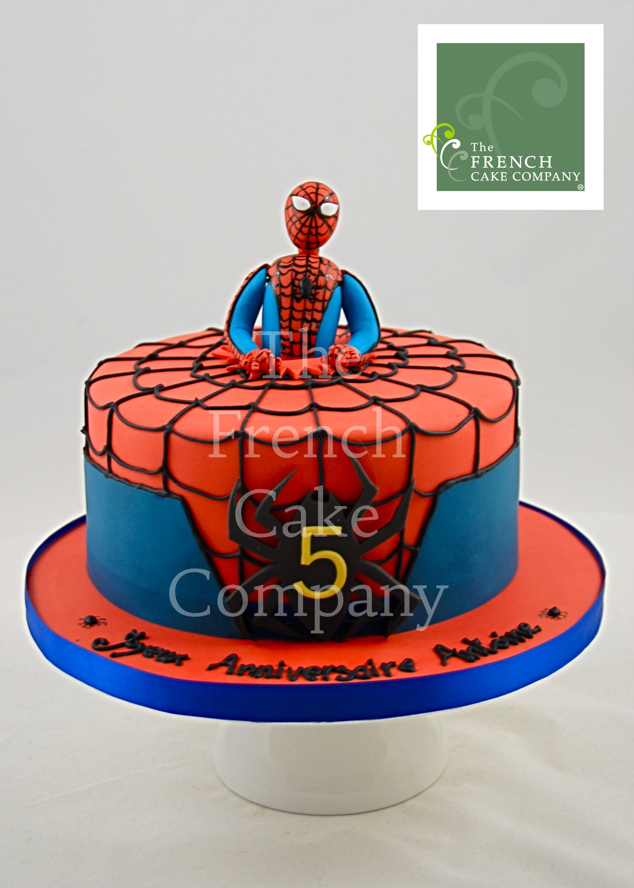 cake for boys spiderman gateau d 39 anniversaire pour enfants garcon spiderman verjaardagstaart. Black Bedroom Furniture Sets. Home Design Ideas