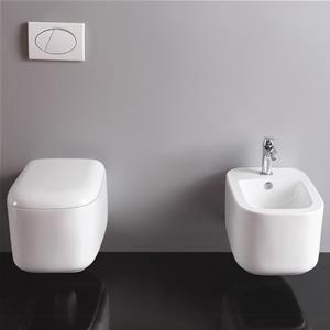 Sanitari sospesi bagno in ceramica con sedile softclose nuovo design ...