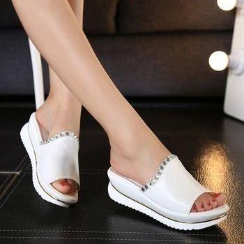 de7390535 sandálias de couro e chinelos mulheres sandálias - Calçados importados