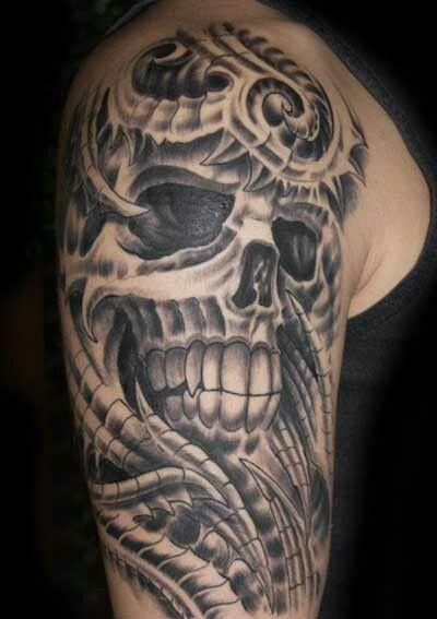 Rob Right Upper Arm Skull Sleeve Tattoos Tattoos For Guys Skull Tattoo