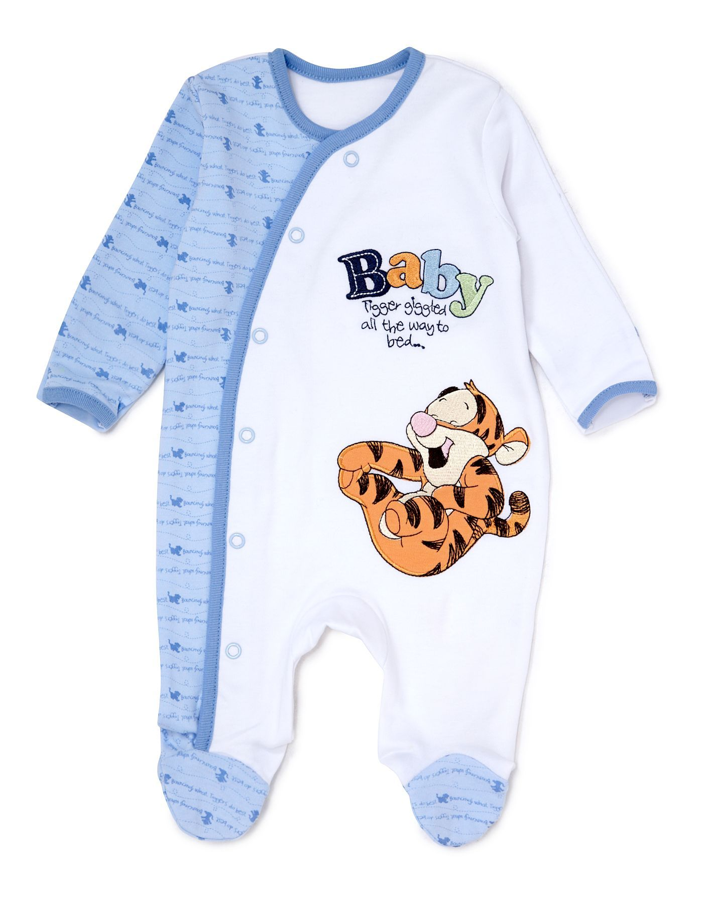 Tigger Baby Sleepsuit Baby George at ASDA