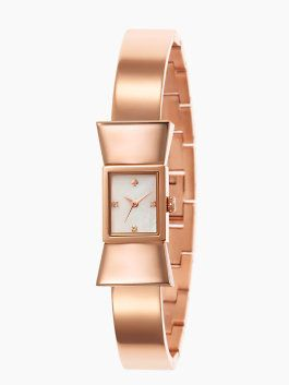 rose gold bow watch. kate spade knows what she's doing!