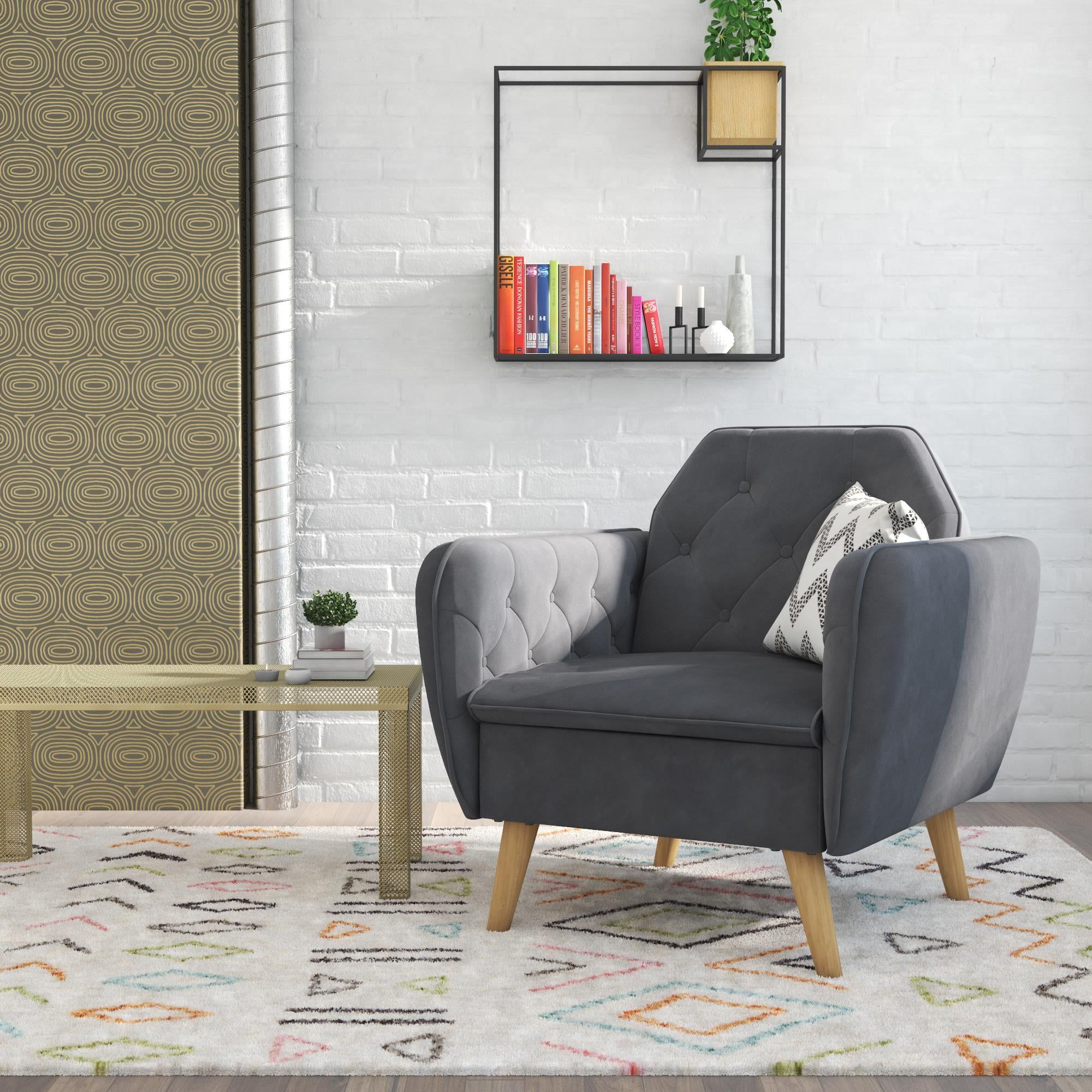 There Are So Many Cute Novogratz Couches And Chairs Available At Walmart Good Luck Picking One Accent Chairs For Living Room Living Room Furniture Accent Chairs Cute chairs for living room