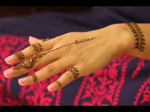 Easy Mehndi Tutorial : Best basic beginners modern arabic henna tutorial fingertip