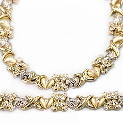 6e9d4635851745 This Large Size necklace and bracelet set is so fresh and exciting! It is a