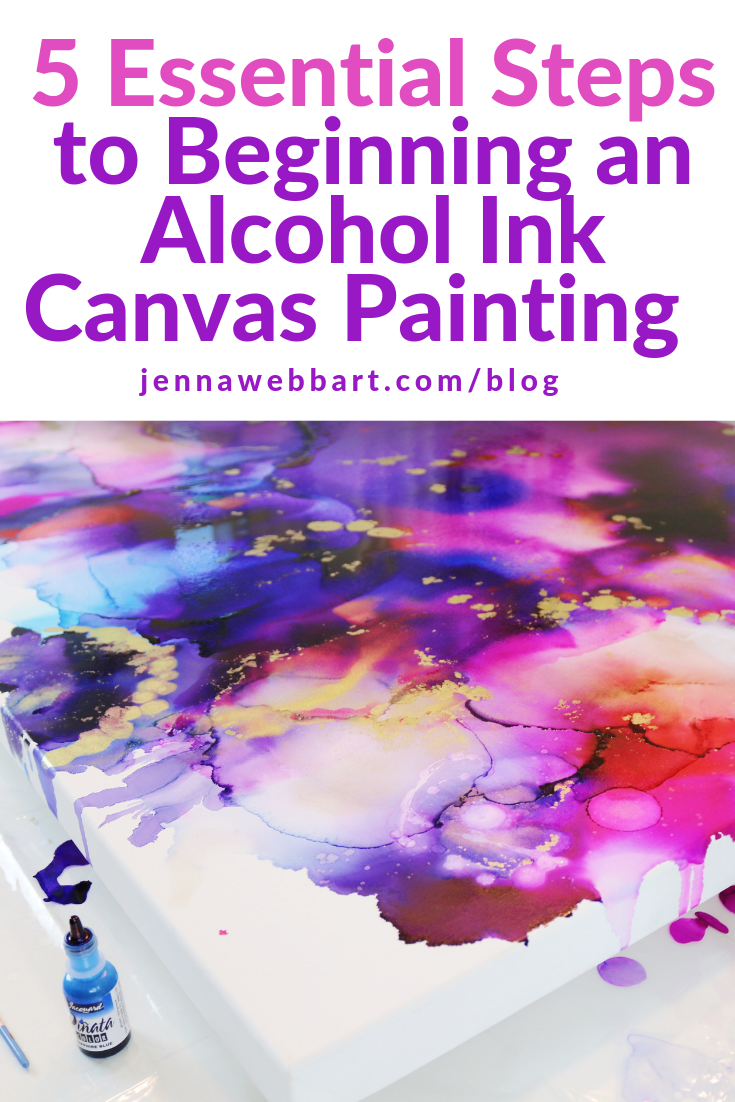 Alcohol Ink on Canvas Course - Online Class  5 Essential Steps to Beginning a Beautiful Piece  My blog teaches you the steps, lists the necessary supplies, and exposes more alcohol ink secrets!  Priming canvas, alcohol ink painting, Alcohol ink on canvas, Alcohol ink techniques, Alcohol ink tutorial, How to paint alcohol ink, Alcohol ink art, How to do alcohol ink art on canvas, canvas DIY, alcohol ink on yupo  #alcoholinkoncanvas #alcoholink #alcohoinktechniques #alcoholinktutorial #abstractart #alcoholinkcrafts