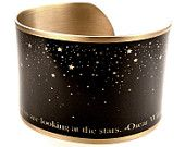 Oscar Wilde Quote, Stars Quote Bracelet, Literary Jewelry