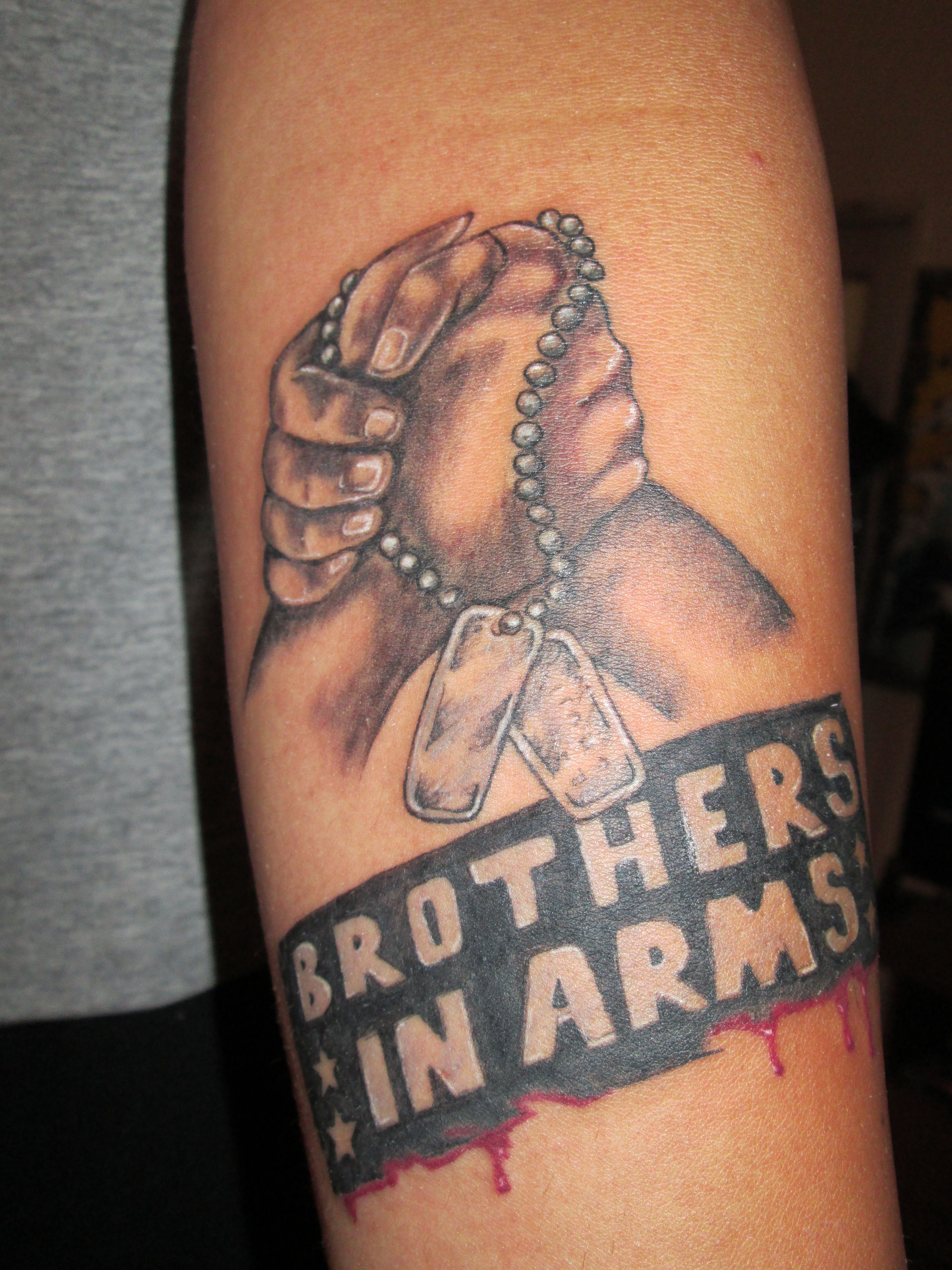 Brothers In Arms Tattoo Tattoos Brothers In Arms Arms