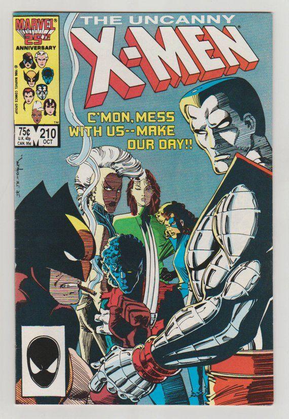 Uncanny X Men Vol 1 210 Copper Age Comic Book Nm 9 2 Etsy In 2020 Marvel Comics Covers Comic Books Art Vintage Comics